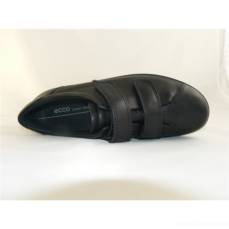Ecco Soft 2.0 Damenklettschuh schwarz nette