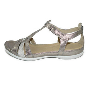 Ecco Flash Damensandale Grey metallic